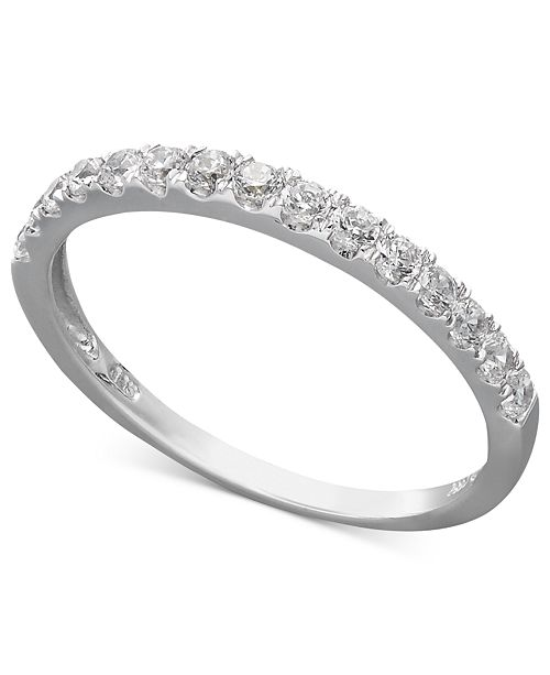 539d5eda94bff 14k White or Yellow Gold Ring, Swarovski Zirconia Wedding Band (1 ct. t.w.)