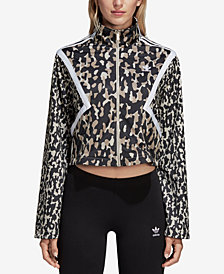 adidas Originals Leoflage Printed Cropped Track Jacket