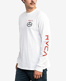 RVCA Men's Long-Sleeve Andrew Reynolds Graphic T-Shirt