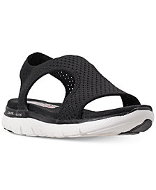 Skechers Women's Flex Appeal 2.0 - Deja Vu Athletic Sandals from Finish Line