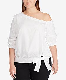 Lauren Ralph Lauren Plus Size Broadcloth Cotton Shirt