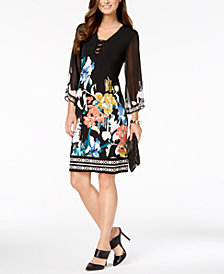 JM Collection Printed Three-Ring Dress, Created for Macy's