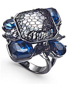 I.N.C. Hematite-Tone Stone & Lace Statement Ring, Created for Macy's