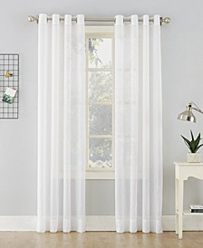 "51"" x 63"" Crushed Sheer Voile Grommet Top Curtain Panel"