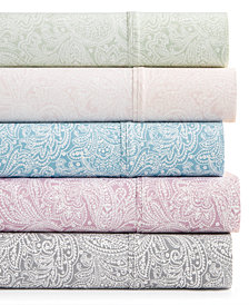 Bari 350 Thread Count 4-Pc. Paisley Inverted-Print Sheet Sets