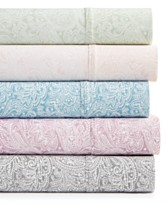 Bari 4 Pc Paisley Printed Sheet Sets 350 Thread Count Cotton Blend