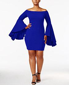 Soprano Trendy Plus Size Bell-Sleeve Dress