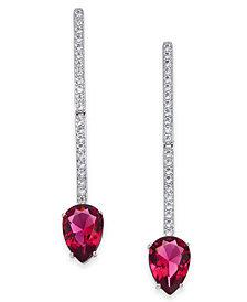 Danori Crystal & Chain Linear Drop Earrings, Created for Macy's