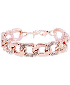 GUESS Crystal Pavé Chunky Link Bracelet