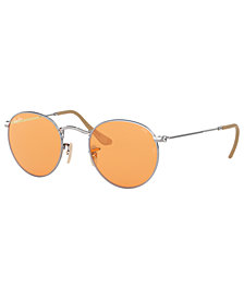 Ray-Ban Sunglasses, RB3447 50 ROUND METAL