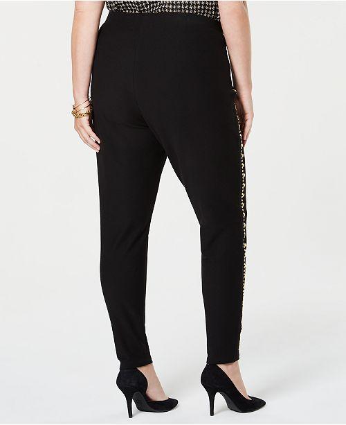 e08b968217ce9 Michael Kors Plus Size Studded-Seam Skinny Pants - Pants   Capris ...