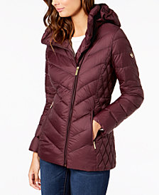 MICHAEL Michael Kors Petite Hooded Quilted Puffer Coat
