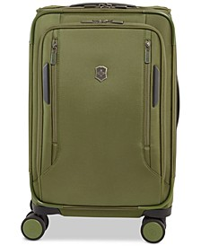 "CLOSEOUT! VX Avenue 22"" Frequent Flyer Softside Expandable Carry-On Suitcase in Olive"