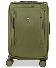 "CLOSEOUT! Victorinox Swiss Army VX Avenue 22"" Frequent Flyer Softside Expandable Carry-On Suitcase in Olive"