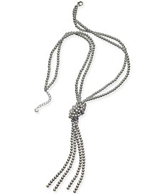 "Imitation Pearl Knotted Lariat Necklace, 28"" + 2"" extender, Created for Macy's"