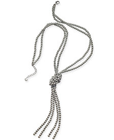 "Charter Club Colored Imitation Pearl Knotted Lariat Necklace, 28"" + 2"" extender, Created for Macy's"
