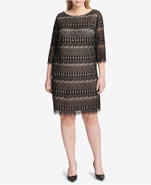ad8e21eeecad7 Jessica Howard Plus Size Lace Dress - Dresses - Women - Macy s