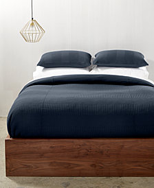 Calvin Klein Steve Ribbed Stripe Bedding Collection, Created for Macy's
