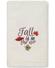 LAST ACT! Avanti Fall Is In The Air Cotton Embroidered Hand Towel
