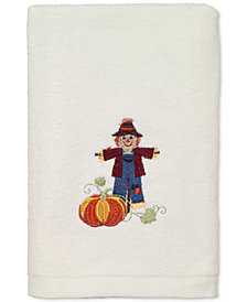LAST ACT! Avanti Scarecrow Cotton Embroidered Hand Towel