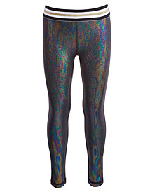 Ideology Little Girls Mermaid Metallic-Print Leggings, Created for Macy's