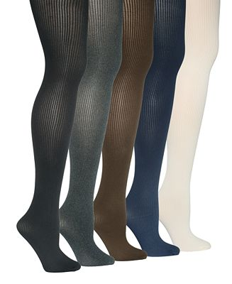 HUE Control Top Ribbed Sweater Tights - Handbags & Accessories ...
