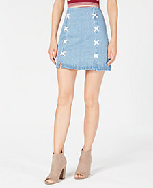 Sage The Label Lace-Up Denim Skirt