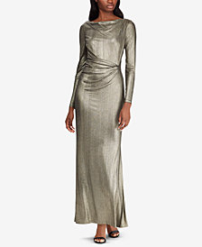 Lauren Ralph Lauren Metallic Knit Gown