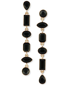 GUESS Gold-Tone Multi-Stone Linear Drop Earrings
