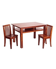 Child's Table & Chair Set, Espresso