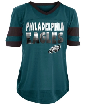 5th & Ocean Philadelphia Eagles Foil Football Jersey, Girls (4-16)