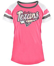 5th & Ocean Houston Texans Pink Foil T-Shirt, Girls (4-16)