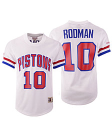 Mitchell & Ness Men's Dennis Rodman Detroit Pistons Name and Number Mesh Crewneck Jersey
