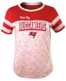 5th & Ocean Tampa Bay Buccaneers Space Dye Glitter T-Shirt, Girls (4-16)