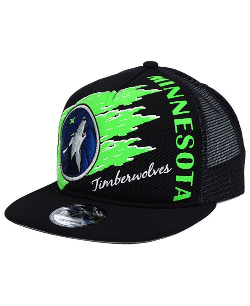 New Era Minnesota Timberwolves Swipe Trucker 9FIFTY Snapback Cap ... 35a760e7170
