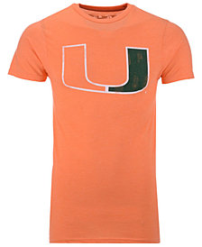 Retro Brand Men's Miami Hurricanes Alt Logo Dual Blend T-Shirt
