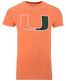 Retro Brand Men's Miami Hurricanes Alt Logo Dual Blend T-Shirt