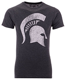 Retro Brand Men's Michigan State Spartans Alt Logo Dual Blend T-Shirt