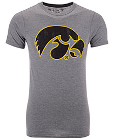 Retro Brand Men's Iowa Hawkeyes Alt Logo Dual Blend T-Shirt