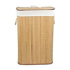 Rectangular Bamboo Hamper, Natural