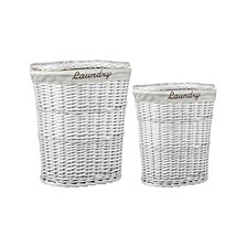 2 Piece  Wicker Hamper with Liner