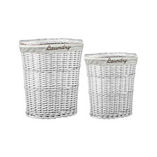 Home Basics  2 Piece  Wicker Hamper with Liner