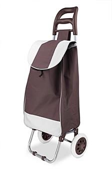 Home Basics Rolling Shopping Cart, Brown