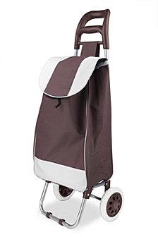 Rolling Shopping Cart, Brown