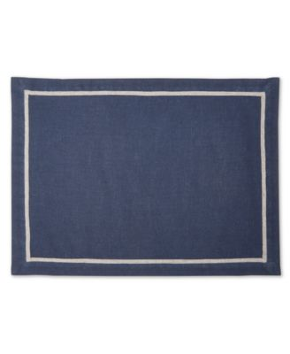 CLOSEOUT! Navy Placemat with Gray, Created for Macy's
