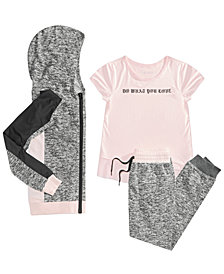 Ideology Big Girls Plus Hoodie, Graphic T-Shirt & Sweatpants, Created for Macy's