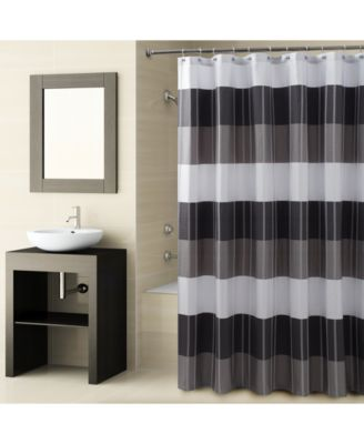 "Fairfax Colorblocked Stripe 72"" x 72"" Shower Curtain"