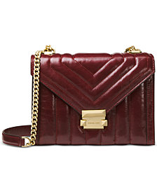 MICHAEL Michael Kors Whitney Polished Quilted Leather Shoulder Bag