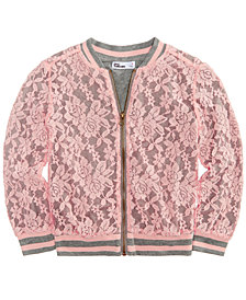 Epic Threads Little Girls Lace Bomber Jacket, Created for Macy's