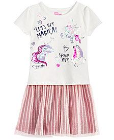 Epic Threads Toddler Girls Unicorn T-Shirt & Glitter-Tulle Skirt, Created for Macy's